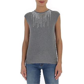 Fabiana Filippi Jed260w457a5338132 Women's Grey Cotton Top