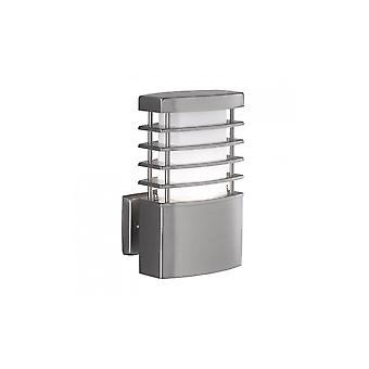 WOFI Chesta Outdoor Rectangular Wall Light In Stainless Steel Finish Ip44 4034.01.97.7000