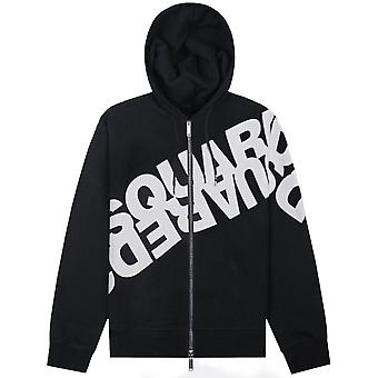 Dsquared2 DSquared2 Mirrored Logo Zipped Hoodie
