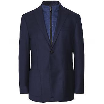 Corneliani Textured Wool Blend Removable Bib Jacket