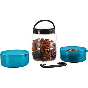 Trixie Plastic Travel Set (Dogs , Bowls, Feeders & Water Dispensers)