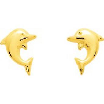 Ohrringe Dolphins Schraube Gold 375/1000 gelb (9K)
