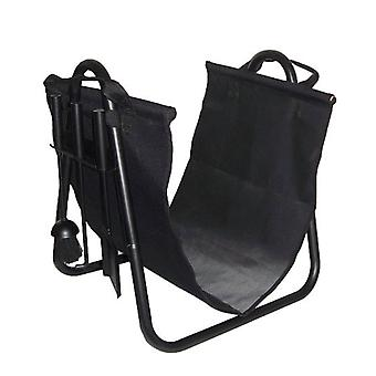 FireUp Fireplace Kindling Woodsling/Cradle Set (Blk 50cm H)