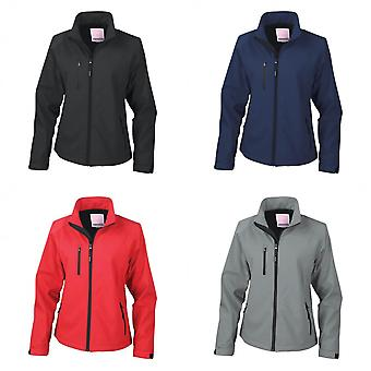 Result Ladies/Womens La Femme® 2 Layer Base Softshell Breathable Wind Resistant Jacket