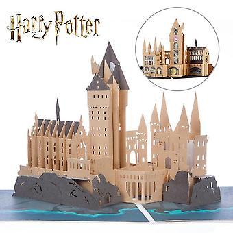Cardology Hogwarts Castle Handmade 3d Pop Up Card