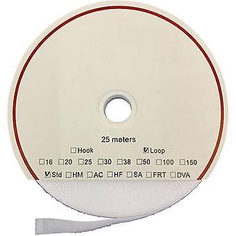 FASTECH® T020500000325 Haak-en-lus tape stick-on (hot melt lijm) Haakkussen (L x W) 25000 mm x 50 mm Wit 25 m Wit