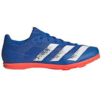 adidas Allroundstar Kids Running Spike Trainer Shoe Blue/White