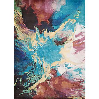 """63"""" x 86"""" Alfombra multicolor de la zona de olefina / poliéster"""