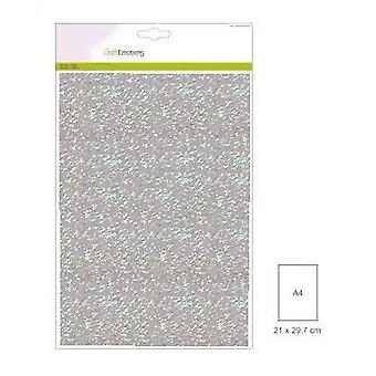 CraftEmotions glitter papel 5 Sh baby blue +/- 29x21cm 120gr