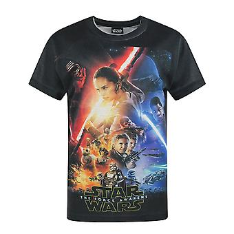 Star Wars Force Awakens Poster Sublimation Boy's T-Shirt