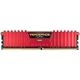 コルセア CMK16GX4M2A2400C14R 内部メモリ 16 GB DDR4, 2400 MHz, 赤色
