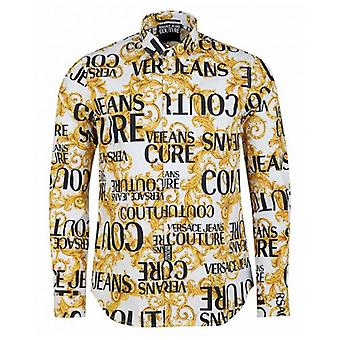 Versace Jeans Couture Slim Fit All Over Baroque Print Shirt