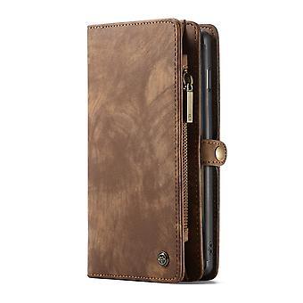 CASEME Samsung Galaxy S10 Retro carteira de couro Case-brown
