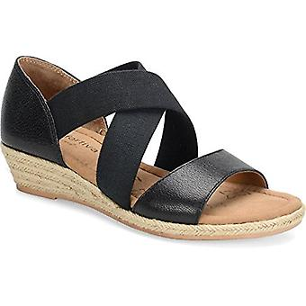 Comfortiva Womens Brye Leather Open Toe Casual Platform Sandals