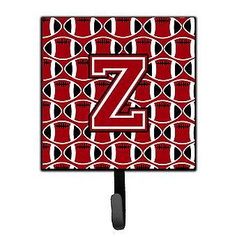 Letter Z Football Red, Black and White Leash or Key Holder