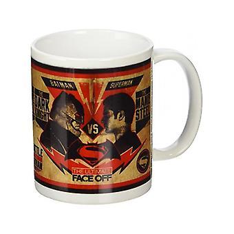 Batman V Superman Fight Poster Mug