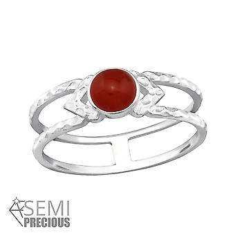 Double Line - 925 Sterling Silver Jewelled Rings - W32348x