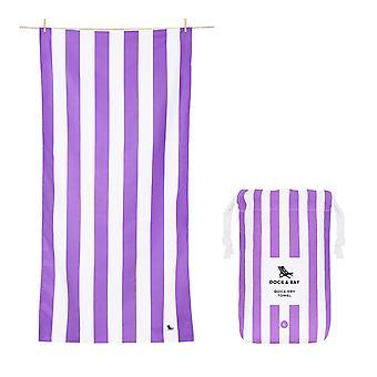Dock & bay quick dry towel - cabana - brighton purple