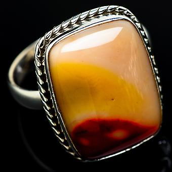 Mookaite Ring Size 10.5 (925 Sterling Silver)  - Handmade Boho Vintage Jewelry RING7789