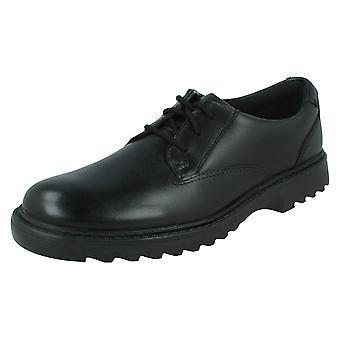 בנים Clarks תחרה חכם נעלי בית הספר אשר ג'אז