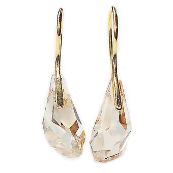 Ah! Jewellery 17mm Golden Shadow Polygon Drop Hand Crafted Earrings