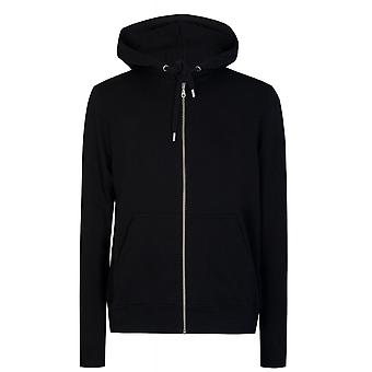 Kenzo Paris Logo Hooded Zip Black Hoodie