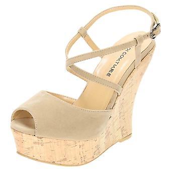 Koi Footwear High Heel Peep Toe Platform Wedge Sandals Strappy Shoes