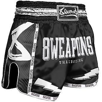 8 Vapen Svart Natt 2.0 Carbon Muay Thai Shorts
