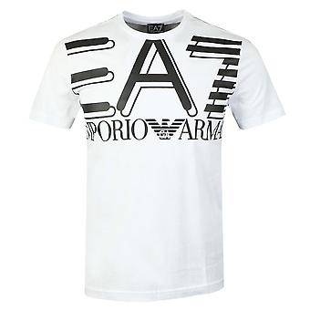 EA7 Emporio Armani Cotton Pinted Logo White T-shirt