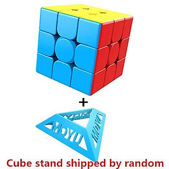 3x3x3 Meilong Magic Stickerless Cube Puzzle - Professional Speed Cube Toys for Students