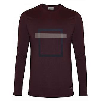 CC Collection Corneliani Burgundy Square Print T-Shirt