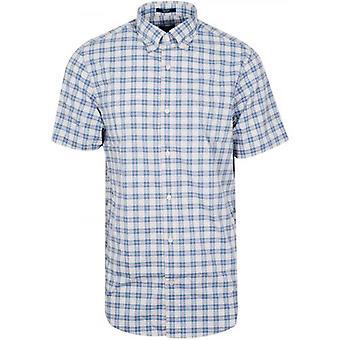 GanT Cornet Blue Check Camicia a maniche corte