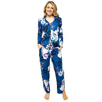 Cyberjammies Eliza 4539 Women's Blue Mix Floral Print Pyjama Pant
