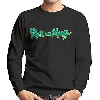 Rick og Morty Classic logo glød mænd ' s sweatshirt