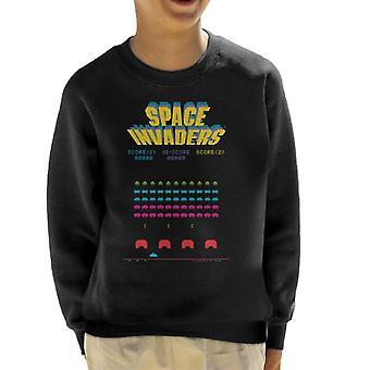 Space Invaders 1978 Arcade Game Play Kid's Sweatshirt