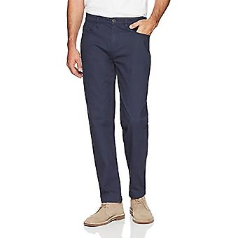 Goodthreads Men's Athletic-Fit 5-Pocket Chino Pant, Navy, 33W x 32L