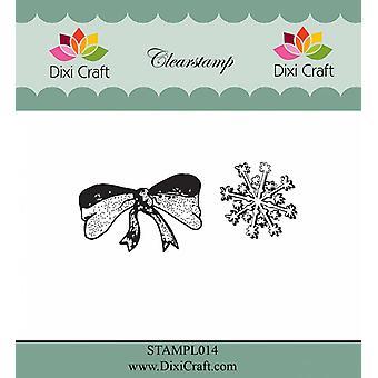 Dixi Craft Bow & Sneeuwvlok duidelijke stempels