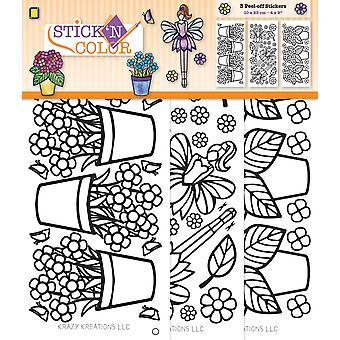 JEJE Produkt Stick 'N Color Flowers & Fairies
