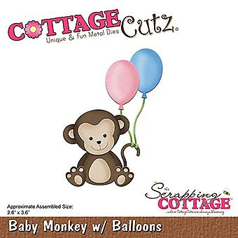 Scrapping Cottage CottageCutz Baby Monkey with Balloons