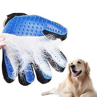 Pies Grooming Rękawice Silikonowe Koty Brush Comb Deshedding Rękawice do włosów Psy Bath Cleaning Animal Combs