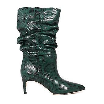 Paris Texas Px511xpmbb158 Women's Green Leather Enkellaarsjes