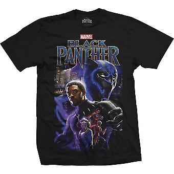 Marvel Comics Musta Pantteri Montaasi Virallinen T-paita Miesten Unisex