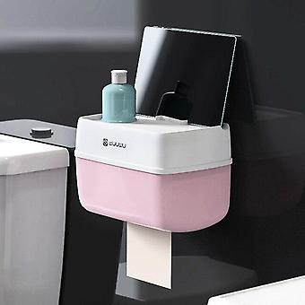 Bathroom Toilet Roll Paper Holder Wall Mount Plastic Bathroom Paper Phone