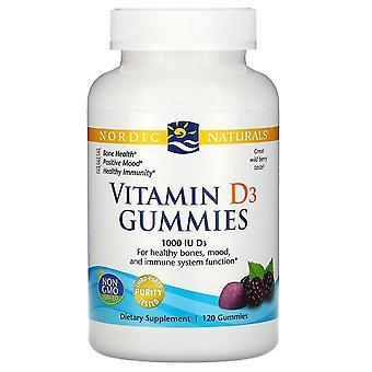 Nordiska Naturals, Vitamin D3 Gummies, Wild Berry, 1000 IE, 120 Gummies