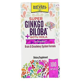 Natural Balance, Super Ginkgo Biloba + Gotu Kola, 100 Capsules