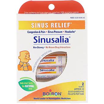 Boiron, Sinusalia, Sinus Relief, 2 Tubes, Ca. 80 Quick-Dissolving Pellets Ea
