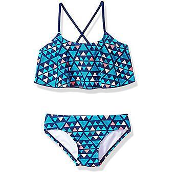 Kanu Surf Big Girls' Alania Flounce Bikini Beach Sport 2 Piece Swimsuit, Jade...