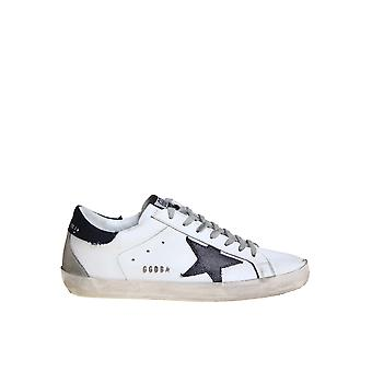Golden Goose Gmf00102f00060910341 Men's White Leather Sneakers