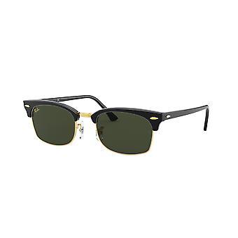 Ray-Ban Clubmaster Square RB3916 1303/31 Shiny Black/Green Glasses