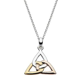 Heritage Sterling Silver Trinity Knot Rose Gold Plate Pendant 9325GRG026
